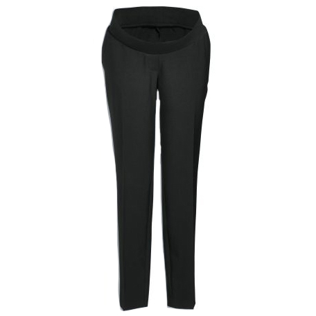 Next Black Taper Narrow Bump Band Trousers