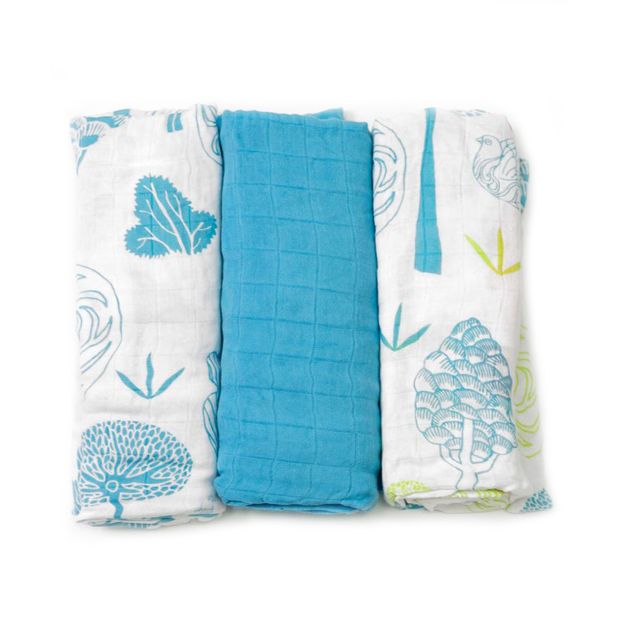 toTs by smarTrike Bamboo Swaddle Wraps 3 Pack