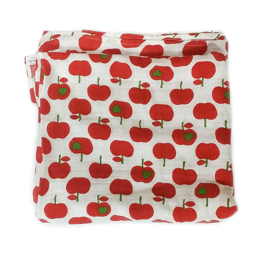Lil' Cub Apple Swaddle Muslin
