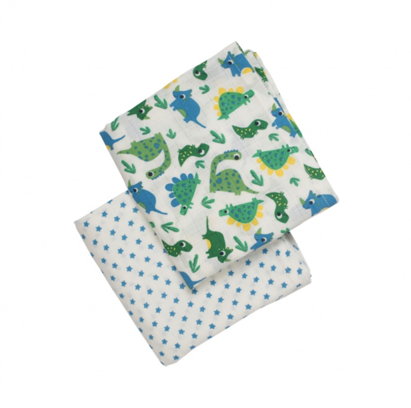 Frugi Lovely Muslins 2 Pack - Multi Dinos Print