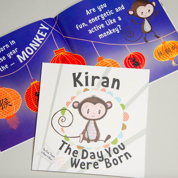 The Day You Were Born' Personalised New Baby Book