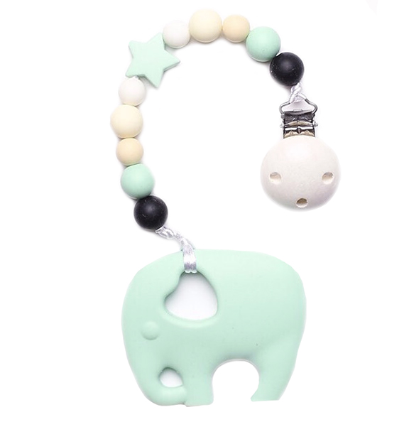 Dummy Clip With Elephant Teether