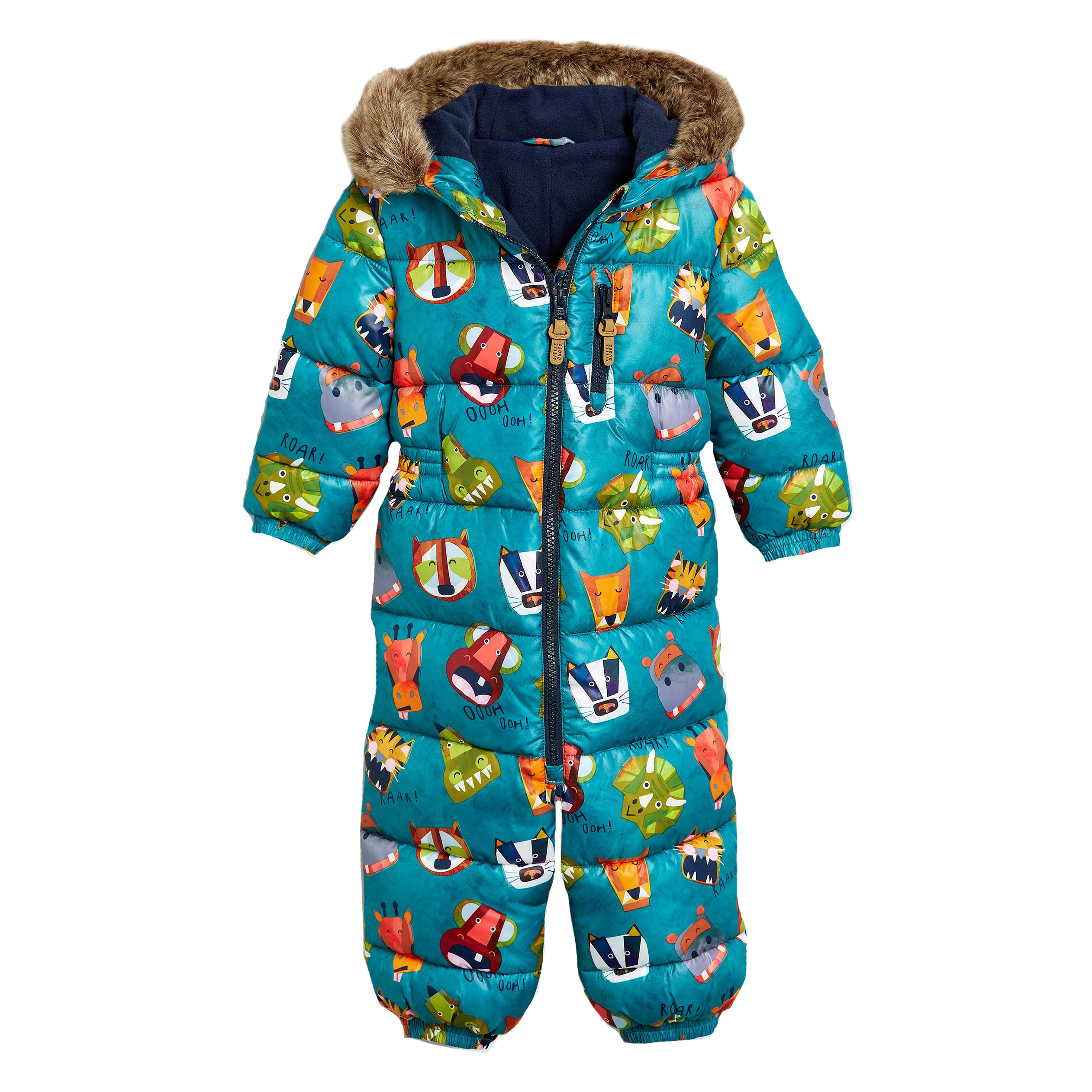 Next Teal Animal All-Over Print Snowsuit