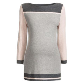 Next Blush Colourblock Maternity Rib Neck Sweater
