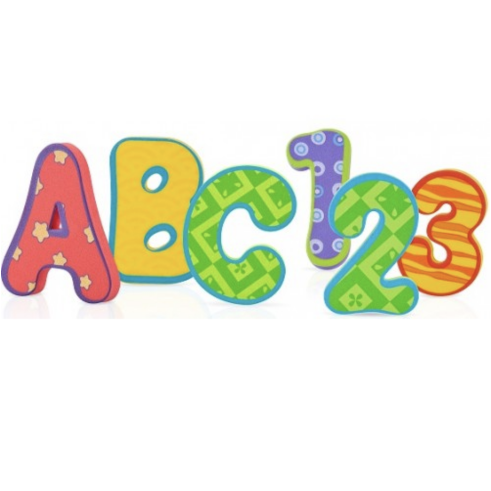 Bath Foam Alphabet Letters and Numbers