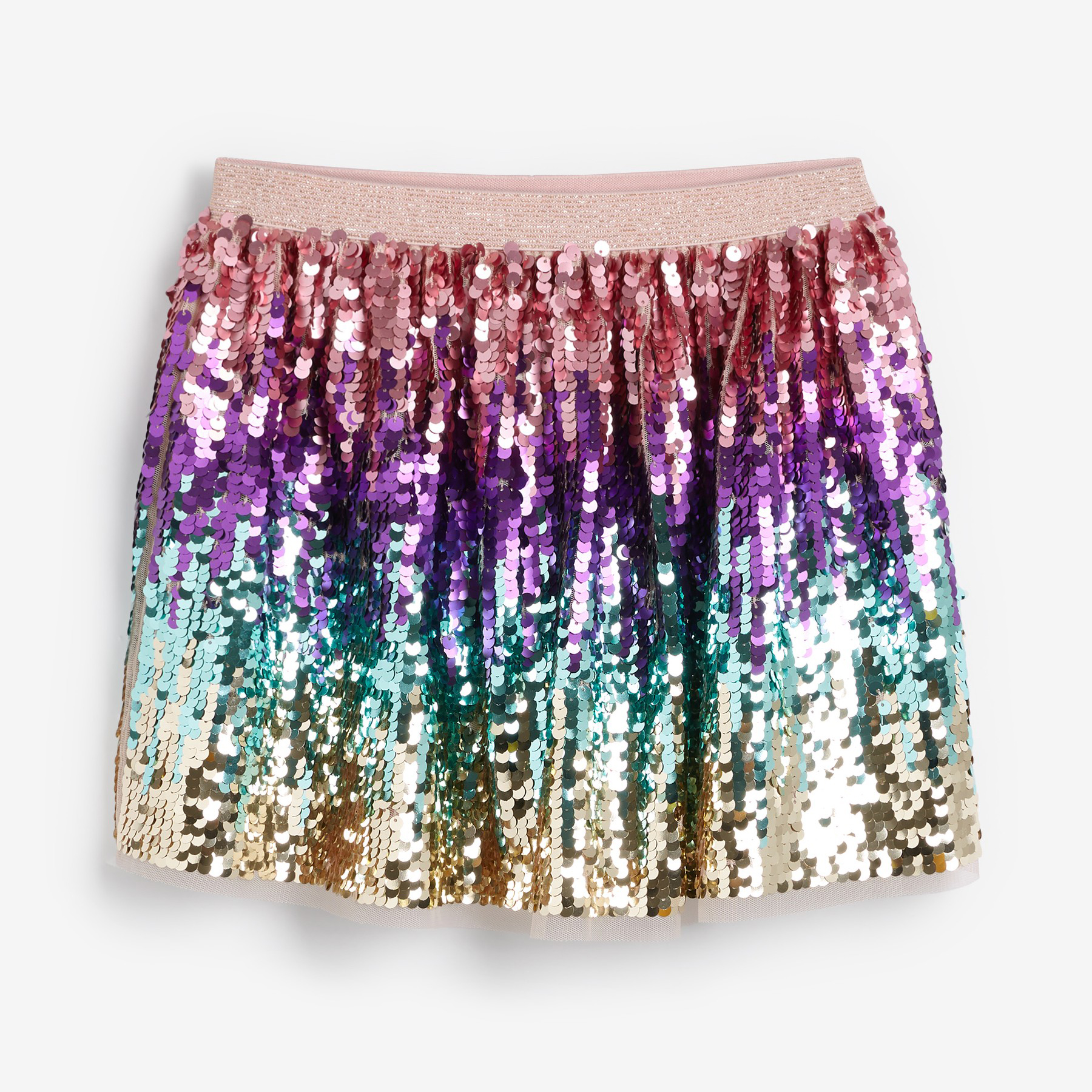 Pink Ombre Sequin Skirt